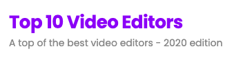 A top of the best video editors